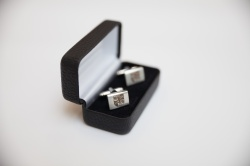 Bangor University Silver Engraved Cufflinks